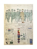 Uniforms of Kingdom of Italy by Quinto Cenni  Color Plate  1916-1917