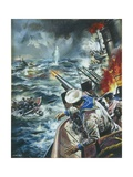 Military Police Finance Branch in Combat at Sea  20th Century