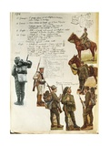 Uniforms of Italian Army During World War I  by Quinto Cenni  Color Plate  1915