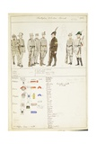 Uniforms of Volunteer Student Battalions of Kingdom of Italy  by Quinto Cenni  1912
