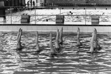 August 1977:  British Synchronized Swimming Team Legs at Euro Championship