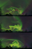 Aurora Borealis in a Spectacular Corona Over a Sami Village