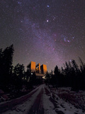 Winter Stars the Milky Way and Jupiter Over the Large Binocular Telescope