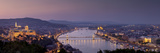 Panoramic View of Budapest and the Danube River in the Evening