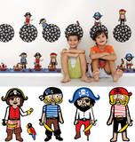 Argh Pirates Blox Wall Decal Sticker