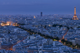 A Panoramic View of the City of Paris, France Reproduction d'art par Stephen Alvarez