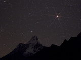 The Red Planet Mars Rises Over Ama Dablam