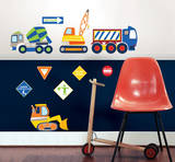 Construction Zone Wall Art Decal Kit