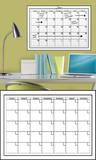 White Dry-Erase Calendar Wall Decal Sticker