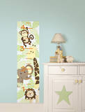 Jungle Friends Growth Chart Wall Decal Sticker