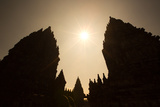 The Towers of the Hindu Prambanan Temples in Central Java