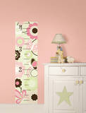 Butterfly Garden Growth Chart Wall Decal Sticker
