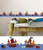 Argh Pirates Stripes Wall Decal Sticker