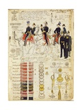 Uniforms of the Piedmontese Army from 1830S Color Plate by Cenni Quinto