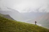 A Woman Hiking in Denali National Park  Alaska