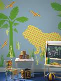 Ozzie the Lion ZooWallogy Wall Art Kit