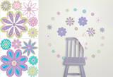 Patchwork Daisy Blox Wall Decal Sticker
