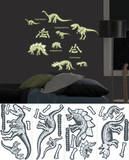 Dinosaurs Glow Wall Decal Sticker Applique
