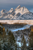 Winter Sunrise on the Teton Range and Snake River