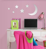 Moon & Stars Wall Mirror Decal Sticker