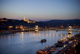 Budapest's Chain Bridge Over the Danube River at Twilight