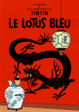 Le lotus bleu (1936) Reproduction d'art par Hergé (Georges Rémi)