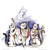Katzenjammer Reproduction d'art par Alfred Gockel