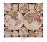 Atlas Major World Map