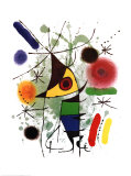 Le chanteur Reproduction d'art par Joan Miró