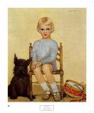 Garçon au chien (1933) Reproduction d'art par Maria Dekammerer