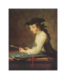 Young Man Sharpening Pencil