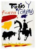 Taureau et torero|Toros y toreros Reproduction d'art par Pablo Picasso