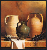Earthenware with Grapes