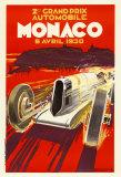 Monaco Grand Prix, 1930 Reproduction d'art par Robert Falcucci