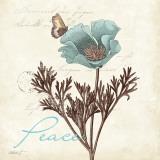 Touch of Blue I (Peace) Reproduction d'art par Katie Pertiet