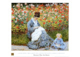 Camille Monet &amp; Child in Artists Garden