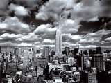 Le ciel de Manhattan, New York Reproduction d'art par Henri Silberman