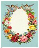 Blumenkranz mit Engeln