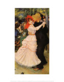 Bal à Bougival Reproduction d'art par Pierre-Auguste Renoir