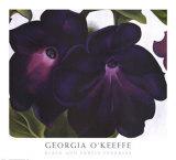 Pétunias noir et rouge Reproduction d'art par Georgia O'Keeffe
