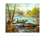 Fishing in the Spring  Pont de Clichy  c1887