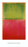 Vert, rouge sur fond orange Reproduction d'art par Mark Rothko