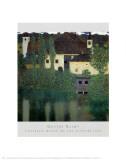 Le manoir d'Unterach Reproduction d'art par Gustav Klimt