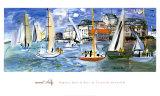 Régates dans le port de Trouville Reproduction d'art par Raoul Dufy