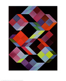 Tridem K Reproduction d'art par Victor Vasarely