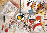 Bustling Aquarelle, vers 1923 Reproduction d'art par Wassily Kandinsky