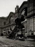 Train Accident at the Gare Montparnasse  Paris  1895