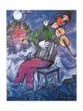 Le violoniste bleu œuvre par Marc Chagall