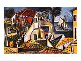 Paysage méditerranéen Reproduction d'art par Pablo Picasso