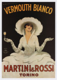 Vermouth Blanc Martini & rossi Reproduction d'art